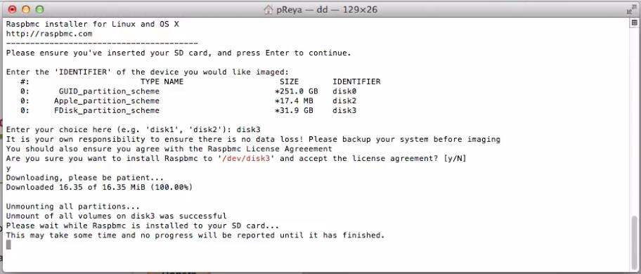 Die Installation von Raspbmc sieht kompliziert aus, benötigt aber nur zwei bis drei einfache Terminal-Kommandos. Für Windows und Mac OS X gibt es außerdem grafische Installer.