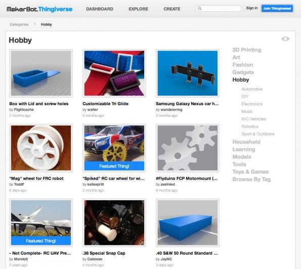 Thingiverse ist die größte Datenbank für 3D-Modelle zum selbst drucken.