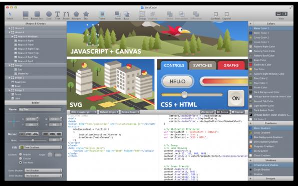 WebCode verfügt über eine sehr übersichtliche Oberfläche.