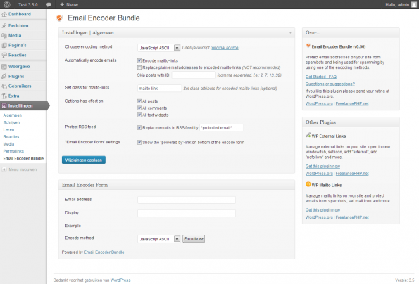 wordpress-sicherheit emailencoder
