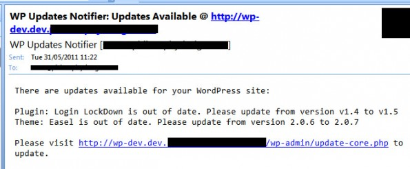 wordpress-sicherheit updatenotifier