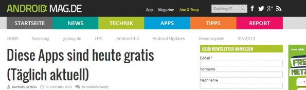 AndroidMag gratis Android-Apps