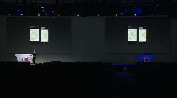 Vor großem Publikum präsentierte Google die neue Version der Google Maps für Mobilgeräte. (Screenshot: Livestream)