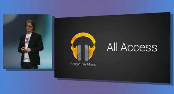 Chris Yerga präsentierte Google Play Music All Access. (Screenshot: Livestream)