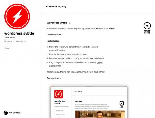 Svbtle für WordPress: Klar und einfach strukturiert.
