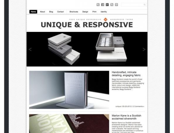 Einfach und klar strukturiert: das Unique-Theme.