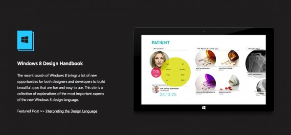 (Screenshot: windows8designhandbook.com)