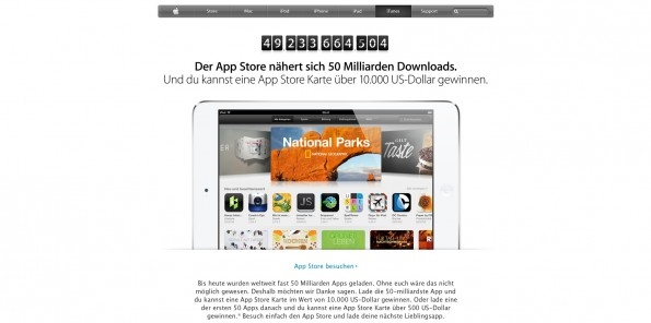 Der Countdown im App-Store läuft. (Screenshot: apple.com)