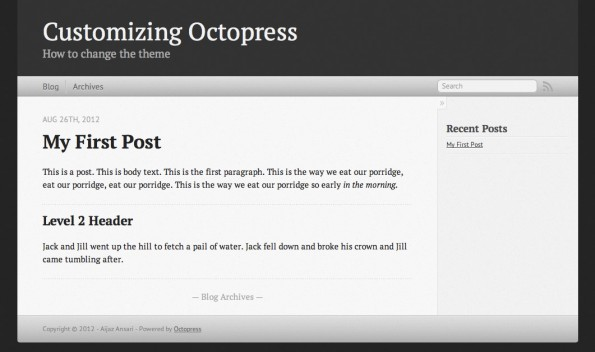 Octopress - Sicheres Blog CMS