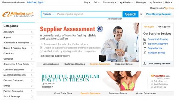 Dropshipping aus dem Ausland: AliBaba kann hier helfen (Screen: AliBaba.com)