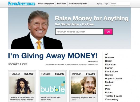 FundAnything will Crowdfunding zum Multi-Milliarden-Dollar-Geschäft machen.