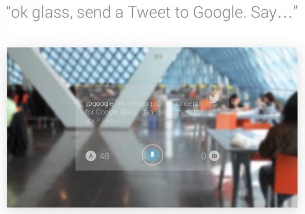 So könnte Twitter mit Google Glass aussehen. Bild: Jack Morgan.