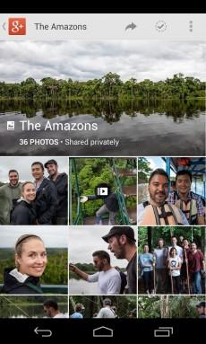 Ein Schwerpunkt beim Update der Google+ App liegt in den Fotofunktionen.