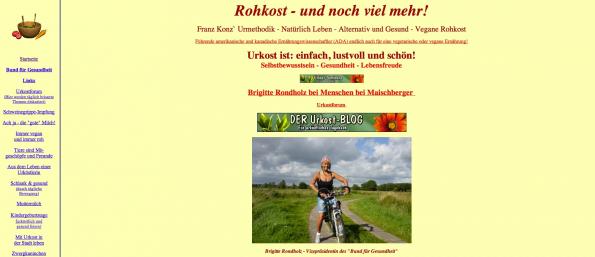 """Urkost mag zwar """"einfach, lustvoll und schön"""" sein, die Website Urkost-mit-Brigitte ist es leider nicht."""