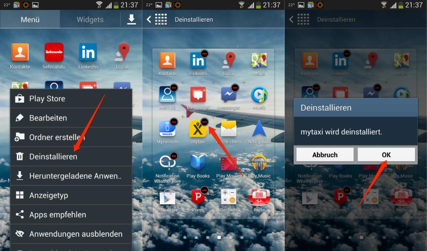 Apps aus dem Anwendungsmanager ausblenden