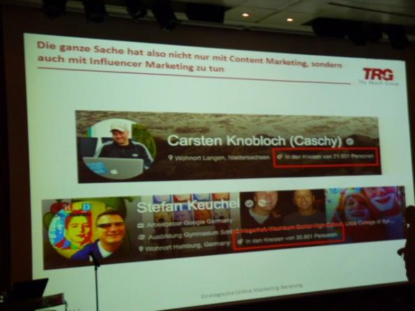 Björn Tantau sprach über Google+ und den Author Rank. (Foto: Olaf Kopp)