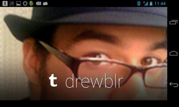 Mit der Google Glass-App für Tumblr kann man alle Arten von Inhalten, einschließlich Text, Bilder und Videos teilen.