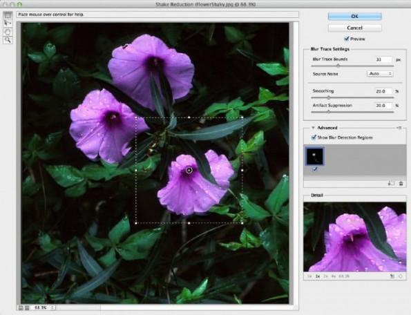 Photoshop CC: Ungewollte Kamerabewegungen müssen ein Bild nicht mehr ruinieren. (Screenshot: Adobe)