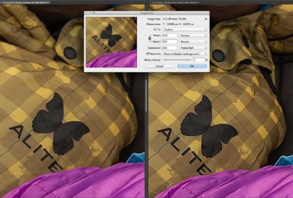 Photoshop CC: Upscaling bringt bessere Ergebnisse als beim Vorgänger. (Screenshot: Adobe)
