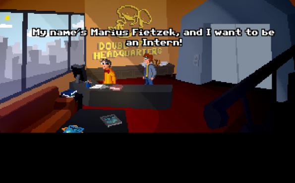 """""""The Applicant"""" ist ein kreatives Browser-Spiel, das ein Bewerbungsgespräch simuliert. (Screenshot: rickrocket.de)"""