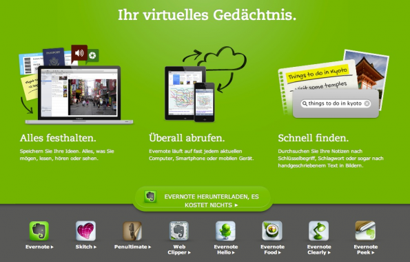 bookmarking-dienste evernote