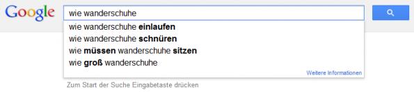 Google liefert viele gute Fragen