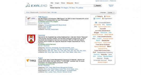 Exalead ist eine Google-Alternative aus Frankreich. (Screenshot: Exalead)