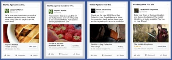 Facebook-Werbung soll auch auf mobilen Geräten   mehr wie auf dem Desktop aussehen. (Bild: Facebook)