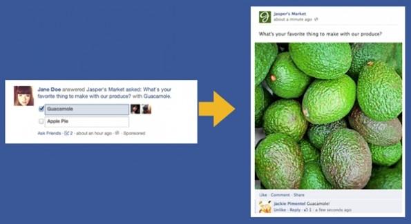 Facebook: Fragen seien effektiver, wenn sie in Form eines Posts kommen. (Bild: Facebook)