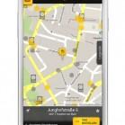 Taxi Deutschland App: Stadtplanansicht als Screenshot auf dem Samsung Galaxy S3