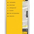 Taxi Deutschland App: Seitenmenü als Screenshot auf dem Samsung Galaxy S3