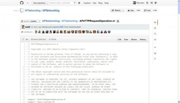 GitHub: Dank dem Redesign sollen Entwickler den Inhalt der Seiten schneller im Blick haben. (Screenshot: GitHub)