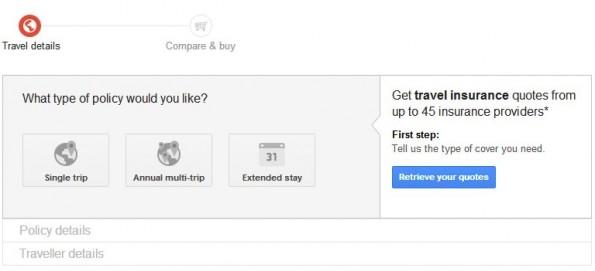 Langfristig könnten Vergleiche für andere Tarife hinzukommen. (Screenshot: Google)