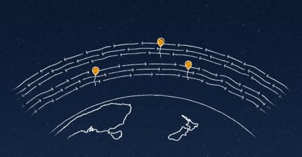 Project Loon: Die Ballons sollen Winde ausnutzen um auf Kurs zu bleiben. (Bild: Google)