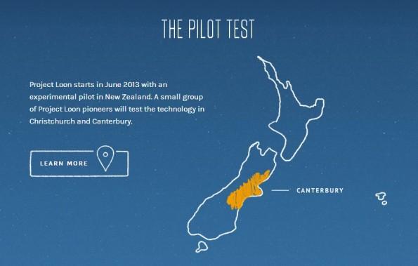 Einer erster Testlauf von Googles Project Loon findet in Neu-Seeland statt. (Bild: Google)
