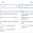 ios 7 transition guide search bar