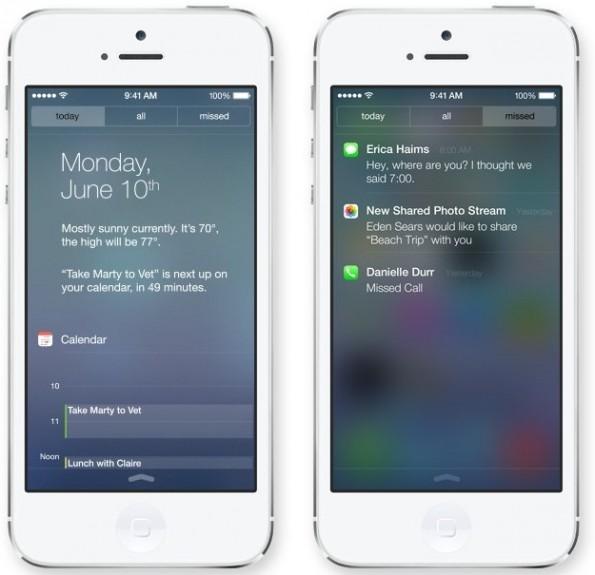 iOS 7: Alle Informationen direkt im Blick. (Foto: Apple)