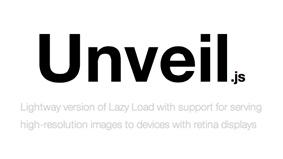 jQuery Unveil: das wahrscheinlich kleinste Lazyload-Plugin der Welt