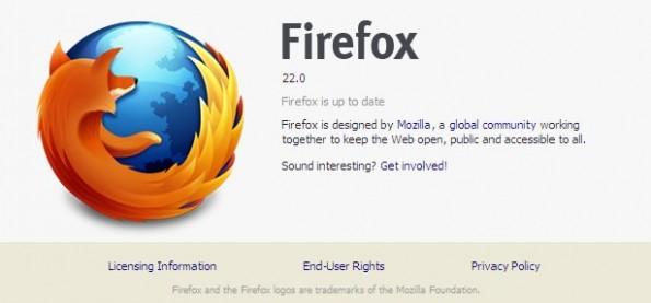 Mozilla Firefox 22 kommt mit einigen Neuerungen wie WebRTC oder OdinMonkey daher. (Screenshot: Firefox)