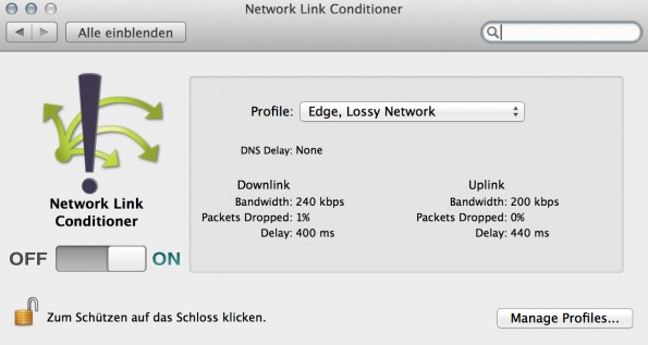 network_link_conditioner_bandbreiten_limit