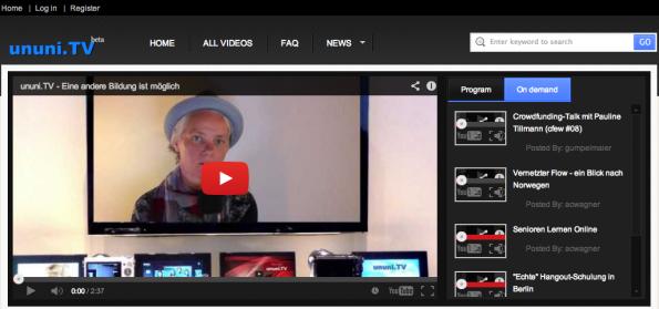 Das Startup ununi.TV bringt Schüler und Lehrer per Google-Hangouts zusammen. (Screenshot: ununi.tv)