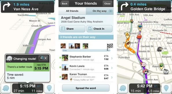 So sieht die Navigation bei Waze aus. (Bilder: Waze)