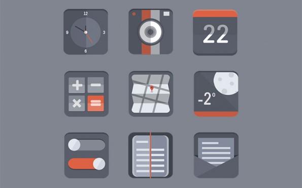 6-free-flat-icon-set