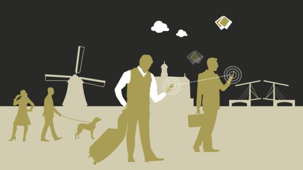Mobile Datenflatrate von lokalen CrowdRoaming-Usern mitnutzen und so ohne hohe Kosten online gehen. Im Gegenzug im eigenen Land Teile der ungenutzten Datenflatrate für Reisende zur Verfügung stellen. (Bild: CrowdRoaming)