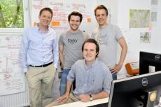 Das Gründerteam von tado: Johannes Schwarz, Valentin Sawadski, Christian Deilmann und Marketing-Chef Leopold v. Bismarck. (Foto: tado)