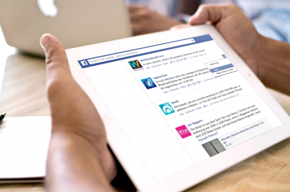 """Produkt-Managerin für Facebook Ads Fidji Simo: """"Wir planen die Nutzer mehr nach den Gründen zu fragen, warum sie manche Inhalte aus dem Feed verbannen"""". (Bild: Placeit.Breezi)"""