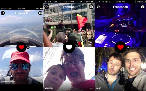 """Die """"Frontback""""-Foto-App arbeitet mit zwei Perspektiven: Die Sicht auf das Objekt und zum anderen auf den Fotograf. (Bild: Frontback)"""