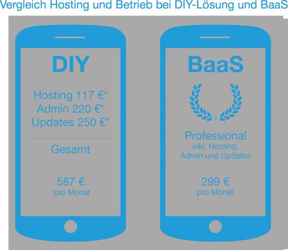 Vergleich der Gesamtkosten von DIY und BaaS