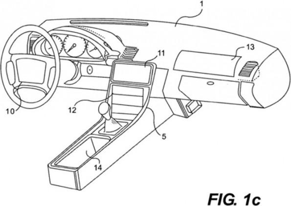 Patentantrag von Apple sieht Touchscreen für Autos mit taktilem Feedback vor. (Bild: US Patentbehörde)