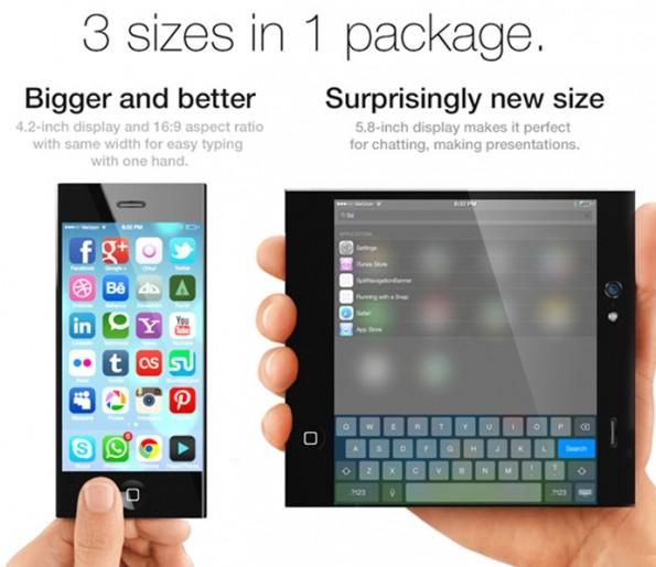 Ein solches iPhone 6 werden wir auf absehbare Zeit wohl nicht in den Händen halten.  (Bild: Pritesh Chavan/Yanko Design)
